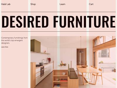 Furniture Web Layout | 4 Column Grid architecture ecommerce workshop office real estate shop interior interface web design website minimal typogaphy grid