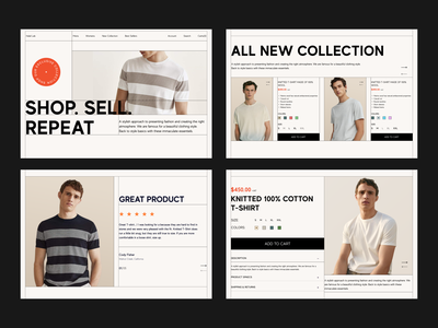 Layout Study typogaphy grid shopping website web design ecommerce branding case study