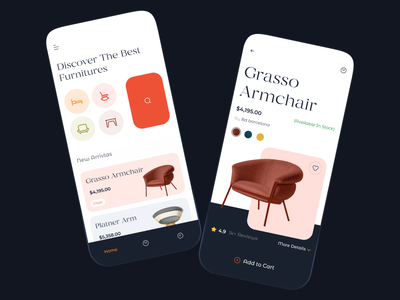 Furniture Store mobile ux design mobile ui design interior app furniture store shopping app store mobile app ios app ecommerce app