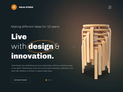 Furniture Website trendy aftereffects animation web design website furinuture illustration typogaphy layout shop ecommerce minimal clean ux ui