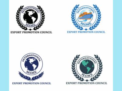 MSME International Promotion council logo illustrator logo
