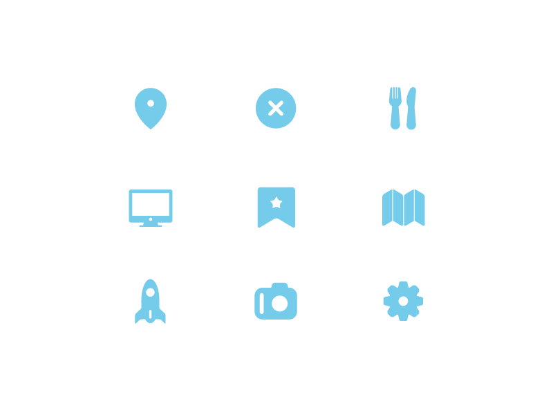 Free Icon Set #2 map design icons set rounded favorite icon iconography computer ui rocket photo