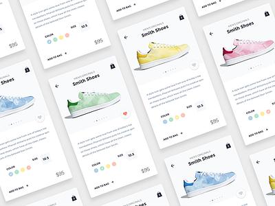 Shoes Store App • Sketch FREEBIE sketch minimalist clean store web app ux shoes white freebie interface ui