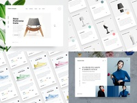2018 minimal principle flat website ux ui interaction animation freebie minimalist uiux interface sketch clean white web design