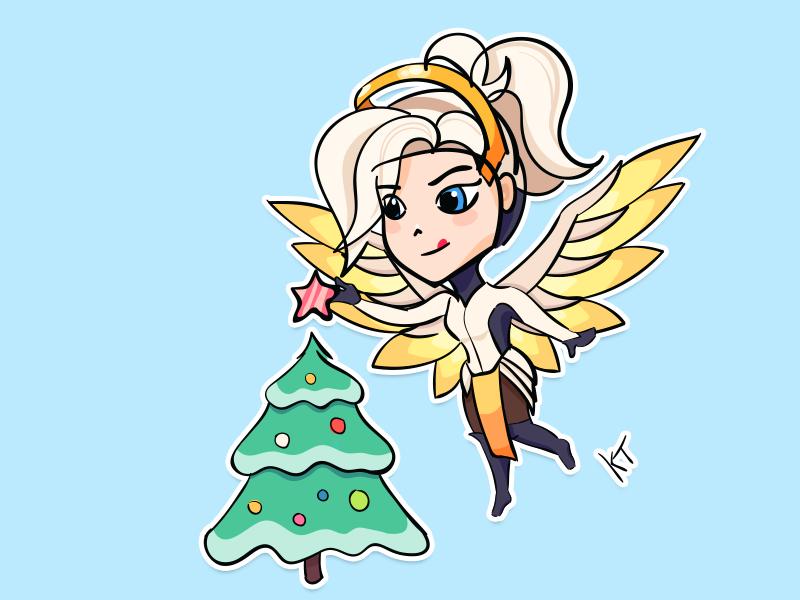 Overwatch Christmas.Sticker Overwatch Christmas By Tanya Kremnova On Dribbble