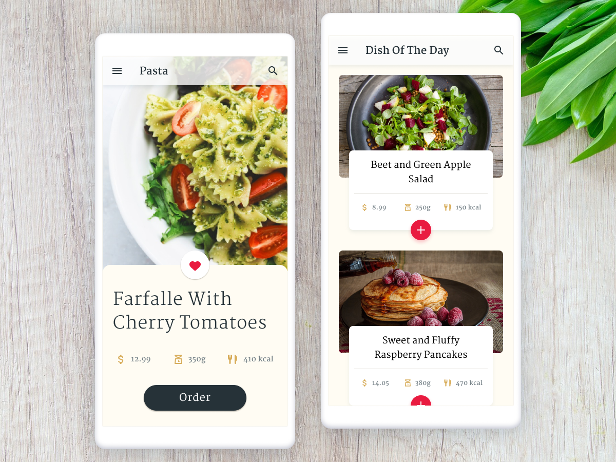 Food App restaurant android food ux ui app mobile figma