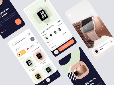 SmartWatch Shop App branding 3d mobile mobile ui fashion shop app halal lab online shop apple watch watch onboarding app design clean ui ui mobile app uiux ecommerce smartwatch app watch app smartwatch watch
