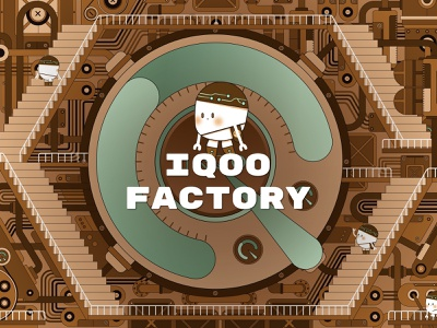IQOO FACTORY cute cartoon vector design flat character illustration