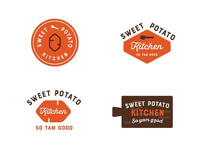 Kitchen logos - narrowed potato organic grocery minimalist branding cute food typography logo illustration