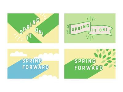 last year's Spring campaign grocery store grocery campaign pastel cheerful seasons spring minimal lettering typogaphy