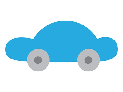 cloud car blue car cartoon simple vector