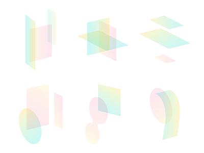 Rainbows conceptual shapes pastel rainbow gradient