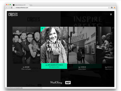 Circles Conference website focus lab web design front-end code css rwd html development