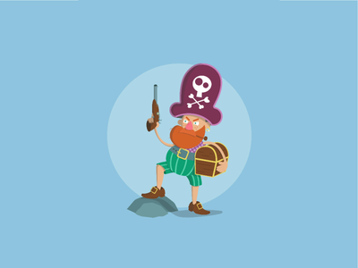 Pirate Illustration minimal flat vector illustration