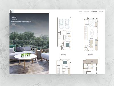 Floor Plan Layout For A New Property Web Design website web design uxdesign ux uidesign ui property developer lifestyle layout illustration floor plans development atlanta