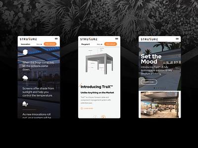 StruXure Mobile UI Design home improvement building design products development uxdesign uidesign ui  ux ux ui mobile ui mobile
