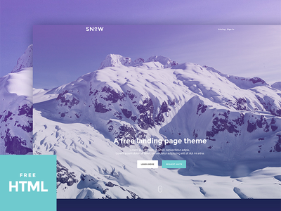 Snow - A Free Bootstrap Landing Page
