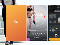 Fitradio UI Design