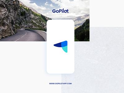 GoPilot Brand Identity minimal color logo android mobile application appstore branding brand design brand identity ios logo design