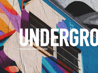 Underground Landing Page culture colorful mixed-use typography gritty urban city atlanta lifestyle landing page branding brand