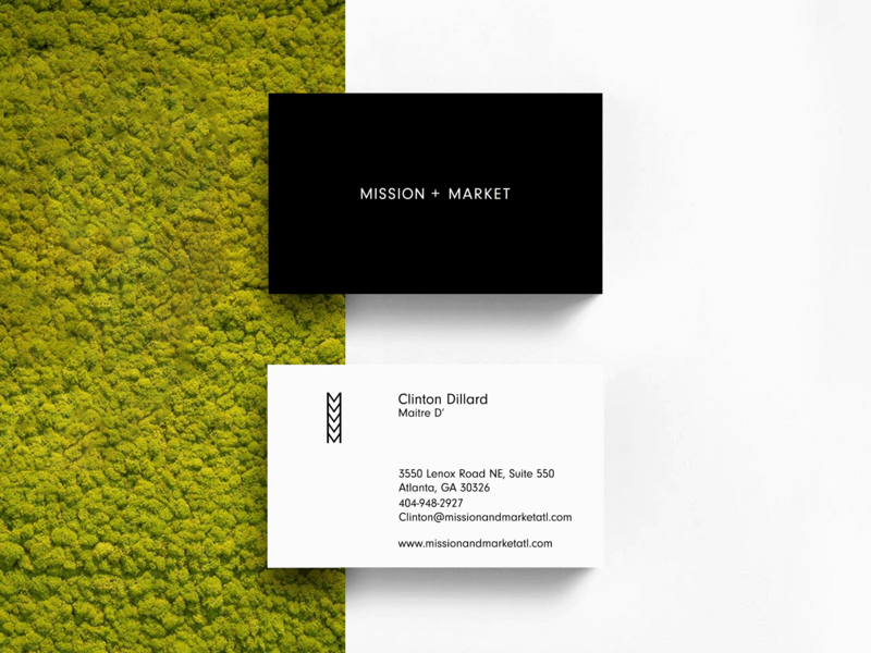 Mission Market Business Cards By Visual Soldiers On Dribbble