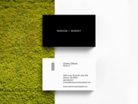 Mission + Market Business Cards