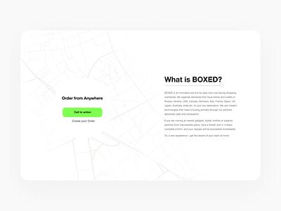 Boxed Web Design ux branding design uiux ui uidesign interfaсe digitaldesign klad