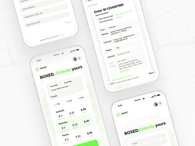 Boxed Mobile UI branding design ux indentitydesign uiux ui uidesign interfaсe digitaldesign klad