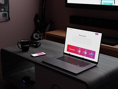 New Website ux ui simple mobile minimal graphic design game creative clean app design app 2d staff live team sports leaderboard 3d design website