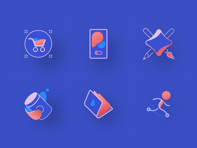 Service Icons design packaging phone cart webdesign illustration vector icons set icons