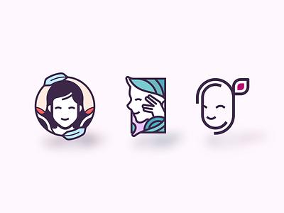 Tribe Girl design branding flat character illustration vector logodesign logo girl tribal