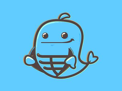 Fishbone illustration flat vector logo bone fish