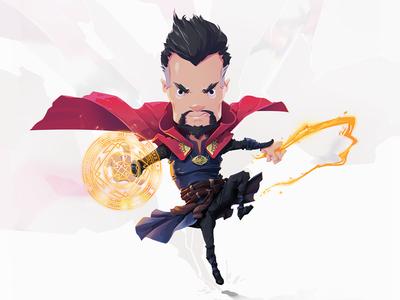 Mr. Doctor illustration character strange doctor marvel