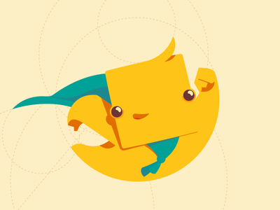 SquareBoy mascot logo illustration character superman flying boy square