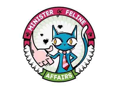 MFA cat logo illustration vector badge cat