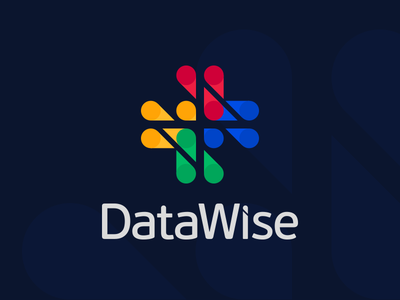 Datawise branding vector agency logo data