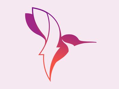 Lightning Bird illustration branding vector logo lightning bird