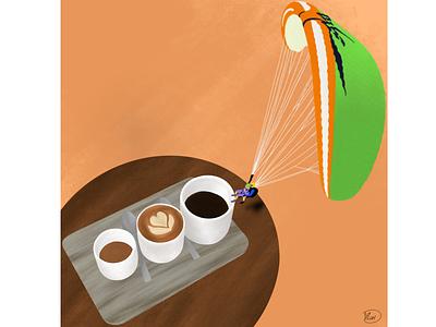 Coffee lovers procreate storyboard storytelling art food illustration coffee illustrator illustration graphic design freelance drawing digital art character design