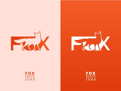 FOX-NEGATIVE SPACE-MODERN LOGO modern logo negative space logo negative-space negative negativespace fox logo fox orange color orange logo orange gradients gradient design gradient logo gradient color gradient logo designer logo design logocreator logo minimal