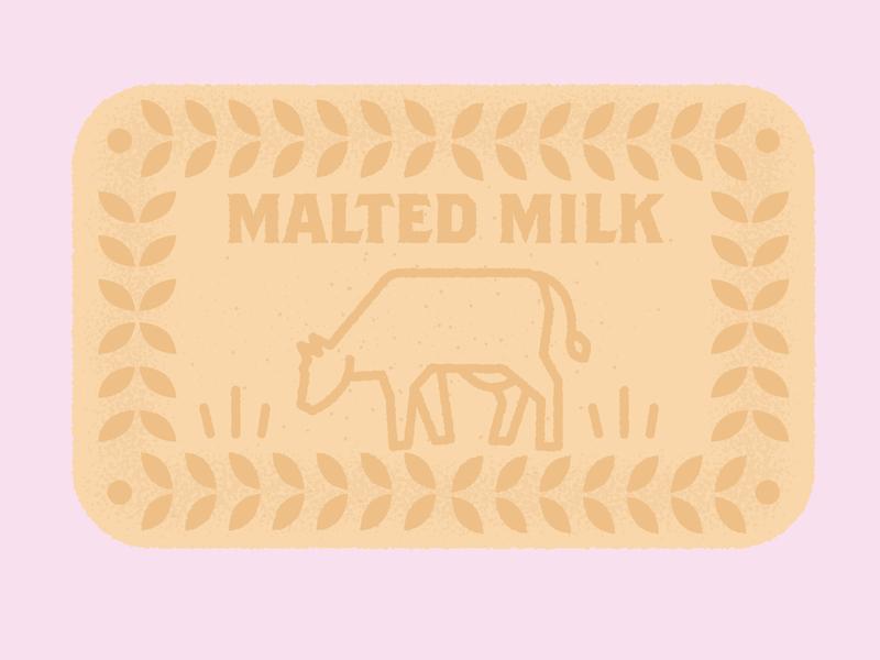 Daily Biscuit Challenge 03 illustration colour maltedmilk treats sweet egdes texture rough vector design biscuit