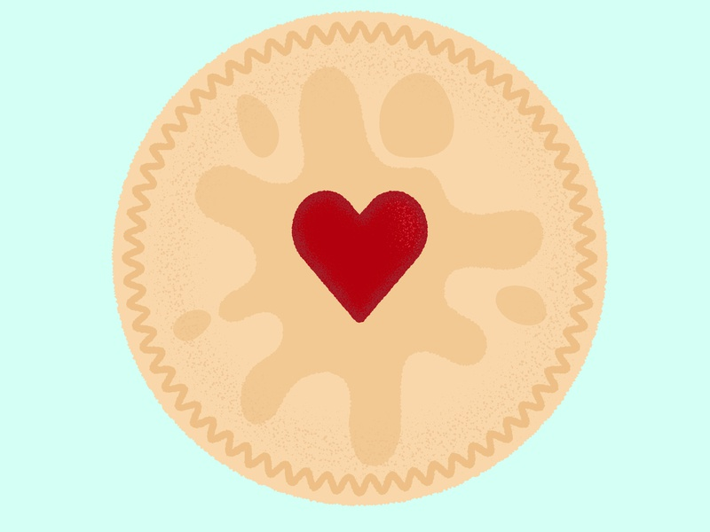 Daily Biscuit Challenge 04 rough texture sweet treat jammiedodger biscuit design colour vector