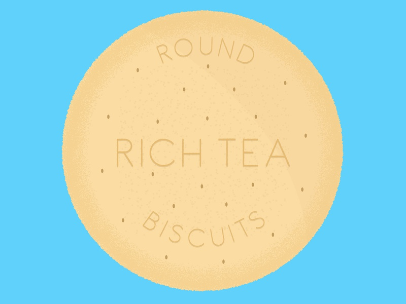 Daily Biscuit Challenge 06 rough sweet treat illustration texture richtea biscuit food vector