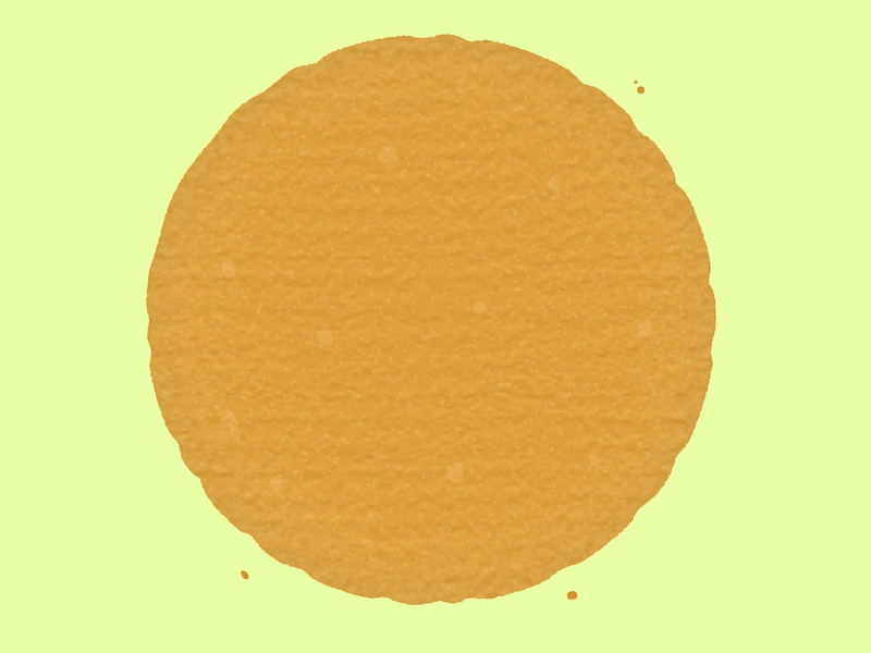 Daily Biscuit Challenge 10 cute fun digital illustration edges rough texture oats hobnob biscuit