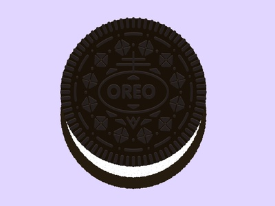 Daily Biscuit Challenge 16, The Oreo texture vector digital illustration sweet chocolate biscuit oero