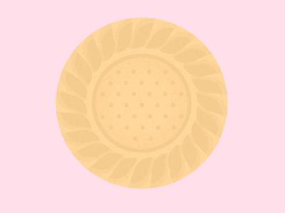 Daily Biscuit Challenge 27 biscuit shortbread digital inspiration design rough illustration texture vector