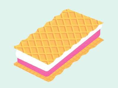 Daily Biscuit Challenge 33, Pink and Whites marshmallow biscuit design rough illustration texture colour vector