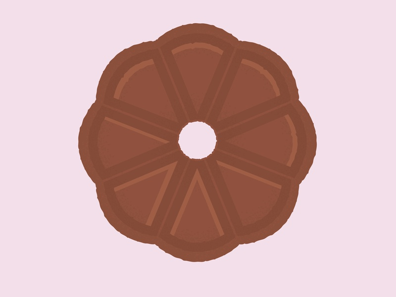 Daily Biscuit Challenge 34, The Chocolate Round inspiration rough design colour vector texture illustration treat sugar sweet biscuit