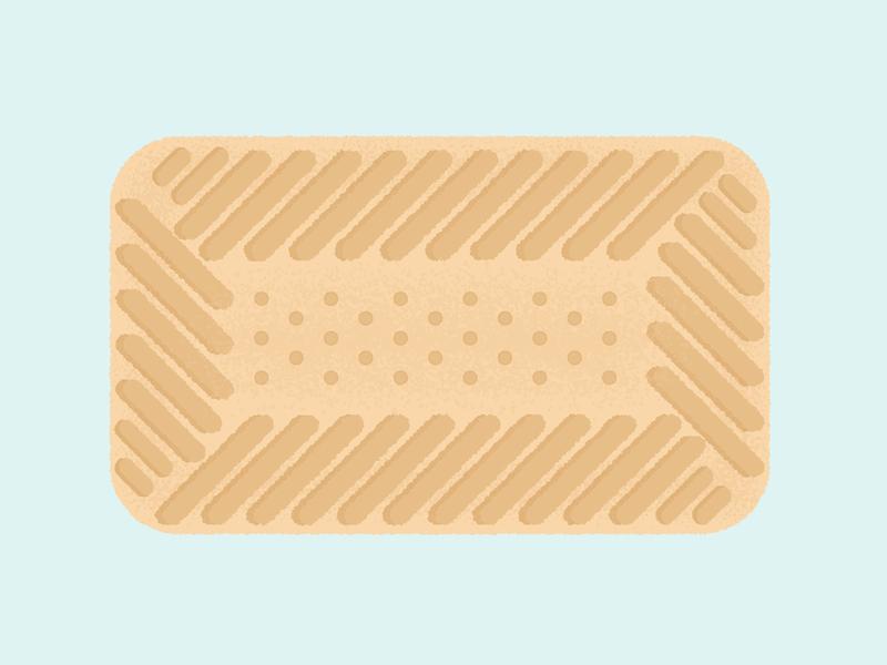 Daily Biscuit Challenge 35, The Shortcake happy edges vector colour texture design illustration rough sugar biscuit