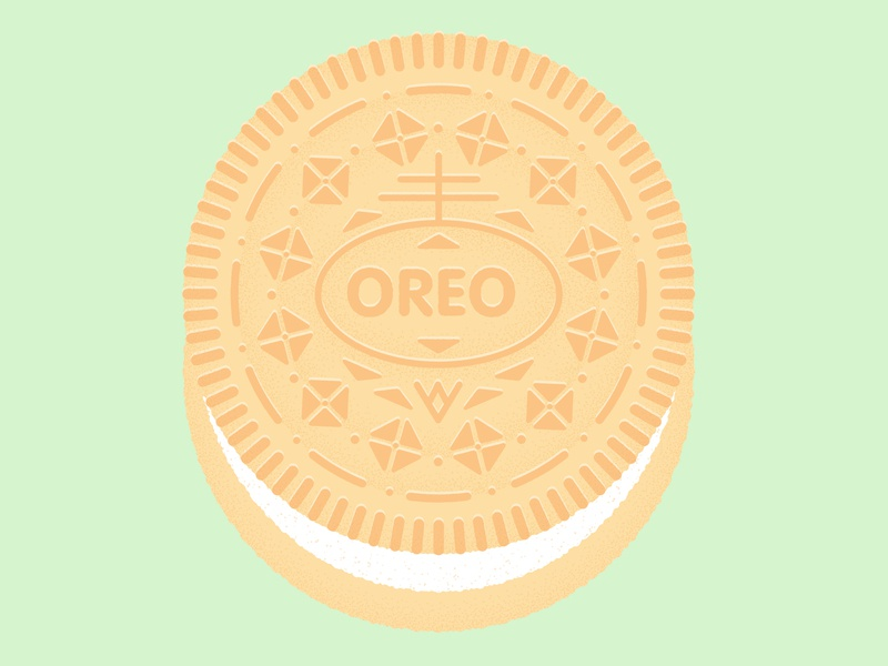 Daily Biscuit Challenge 36, The Golden Oreo treat sugar biscuits goldenoreo oreo biscuit design rough illustration texture vector