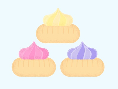 Daily Biscuit Challenge 37, The Iced Gem sugar colour texture rough biscuit illustration vector design